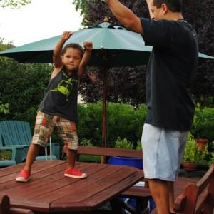 vader zoon dansen